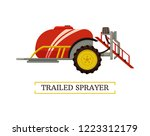 trailed sprayer agricultural... | Shutterstock .eps vector #1223312179