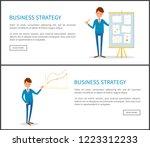 business strategy  businessman... | Shutterstock .eps vector #1223312233