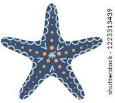 cute illustration of blue... | Shutterstock .eps vector #1223313439