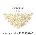 vector golden element ... | Shutterstock .eps vector #1223313463
