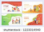 preparation of christmas gifts  ... | Shutterstock .eps vector #1223314540