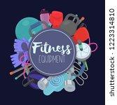 set of fitness accessories ...   Shutterstock .eps vector #1223314810