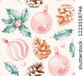 seamless pattern with pine... | Shutterstock .eps vector #1223318746