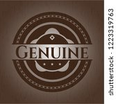 genuine wooden emblem | Shutterstock .eps vector #1223319763