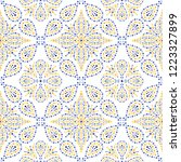 traditional portugal azulejos...   Shutterstock .eps vector #1223327899