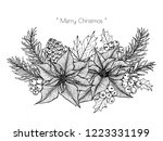 christmas decoration with... | Shutterstock .eps vector #1223331199