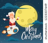 santa claus is flying on a... | Shutterstock .eps vector #1223337649