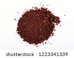 heap of ground sumac spice.... | Shutterstock . vector #1223341339