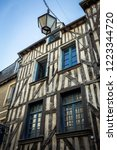 traditional half timbered... | Shutterstock . vector #1223344720