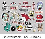 cute  patches and stickers... | Shutterstock .eps vector #1223345659