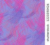 various pen hatches. seamless...   Shutterstock .eps vector #1223350426