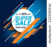 sale banner template design | Shutterstock .eps vector #1223350516