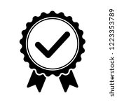 black icon approved or... | Shutterstock .eps vector #1223353789