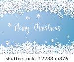 merry christmas. snowflake... | Shutterstock .eps vector #1223355376