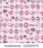 valentines day background | Shutterstock .eps vector #122335573