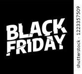 black friday sale inscription... | Shutterstock .eps vector #1223357509