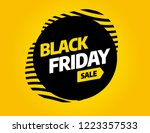 black friday sale inscription... | Shutterstock .eps vector #1223357533