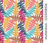 fern frond herbs  tropical... | Shutterstock .eps vector #1223358526