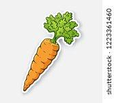vector illustration. carrot... | Shutterstock .eps vector #1223361460