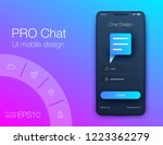 vector phone chat interface.... | Shutterstock .eps vector #1223362279