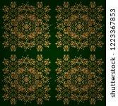 ethnic indian folklore. vector... | Shutterstock .eps vector #1223367853
