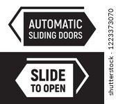 automatic sliding doors sign.... | Shutterstock .eps vector #1223373070