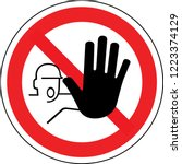 sign in france  hand  do not... | Shutterstock .eps vector #1223374129