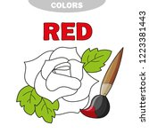 red. learn the color. education ... | Shutterstock .eps vector #1223381443