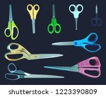 a set of different types of... | Shutterstock .eps vector #1223390809