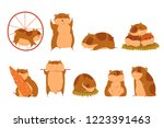 cute cartoon hamster characters ... | Shutterstock .eps vector #1223391463