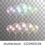 vector realistic 3d set... | Shutterstock .eps vector #1223403136