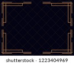 art deco frame. vintage linear...   Shutterstock .eps vector #1223404969