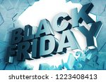 black friday  sale message for... | Shutterstock . vector #1223408413