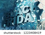 black friday  sale message for... | Shutterstock . vector #1223408419