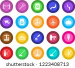 round color solid flat icon set ... | Shutterstock .eps vector #1223408713