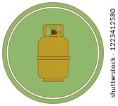 camping gas bottle icon. flat... | Shutterstock .eps vector #1223412580