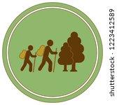 hiking icon illustration... | Shutterstock .eps vector #1223412589