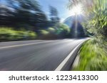 road in forest sunny morning | Shutterstock . vector #1223413300