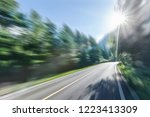 road in forest sunny morning | Shutterstock . vector #1223413309