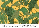 vector tropical seamless... | Shutterstock .eps vector #1223416786