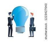 businessman work related | Shutterstock .eps vector #1223427043