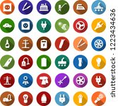 color back flat icon set   hair ... | Shutterstock .eps vector #1223434636