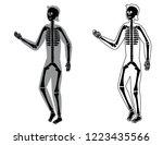 body silhouette and skeleton ... | Shutterstock .eps vector #1223435566