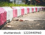 red and white stripes on the...   Shutterstock . vector #1223440960