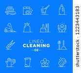 lineo white   cleaning and... | Shutterstock .eps vector #1223443183