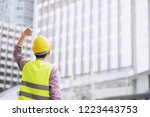 back view of engineering man... | Shutterstock . vector #1223443753