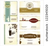 set of 5 business cards for... | Shutterstock .eps vector #122345020