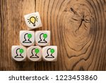 many people together having an... | Shutterstock . vector #1223453860