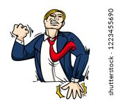 angry business man cartoon... | Shutterstock .eps vector #1223455690