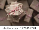 small gift box on top of a pile ... | Shutterstock . vector #1223457793